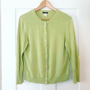 JCrew Cotton 3/4 Sleeve Cardigan